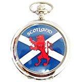 Herren Analog Schottische Taschenuhr an einer 30 5 cm Kette