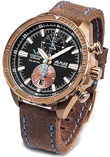 Vostok Europe Almaz Space Station Chronograph Herrenuhr BRONZE 320O266
