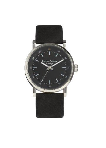 Simon Carter Herren Armbanduhr Analog Quarz Schwarz WT1801 Black