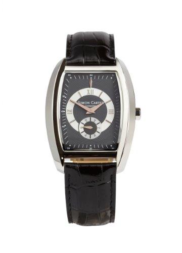 Simon Carter Herren Armbanduhr Analog Leder schwarz WT1904 Black