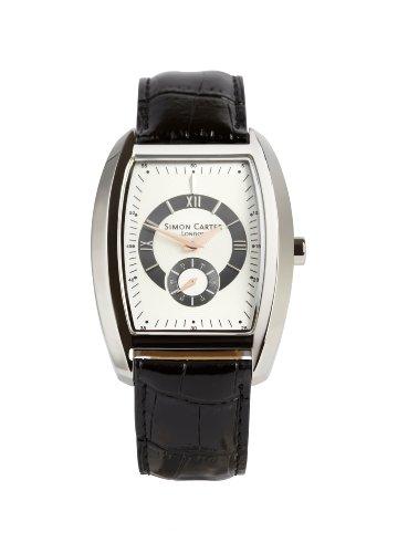Simon Carter Herren Armbanduhr Analog Quarz Schwarz WT1904 White