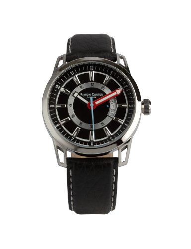 Simon Carter Herren Armbanduhr Analog Quarz Schwarz WT1906 Black