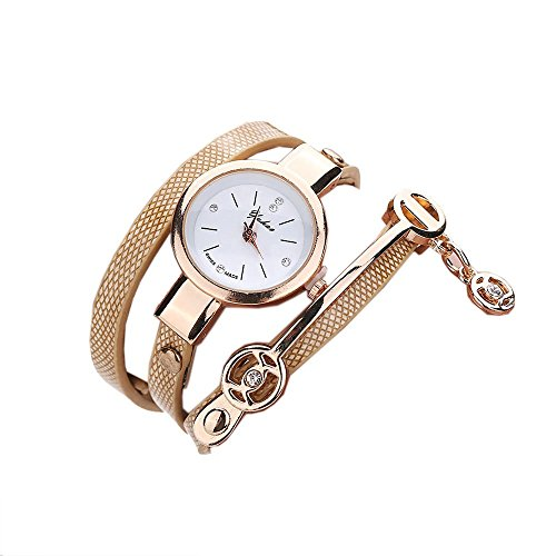 Ularma Mode Armband Analog Quarz Uhr Golden