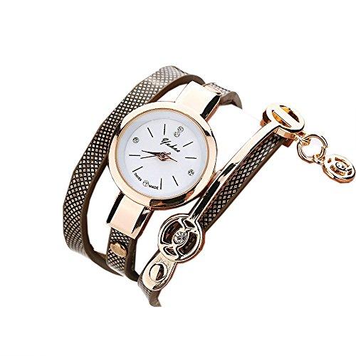 Ularma Mode Exquisit Armband Analog Quarz Uhr schwarz