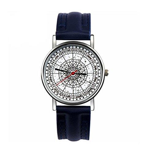 Ularma Unisex Vintage Analog Quarz Uhr Kunstleder Band Armbanduhr NY
