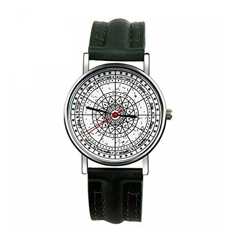 Ularma Unisex Vintage Analog Quarz Uhr Kunstleder Band Armbanduhr AG