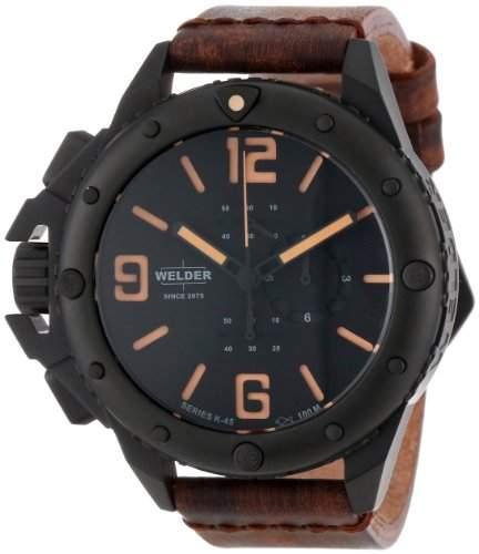 Welder Unisex-Armbanduhr Chronograph Quarz Leder K2700