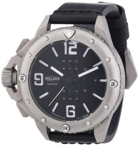 Welder Unisex-Armbanduhr Chronograph Quarz Leder K2702