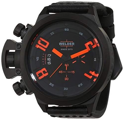 Welder Herren-Armbanduhr Chronograph Quarz Leder K24 3300