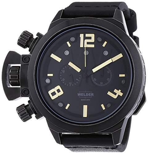 Welder Unisex-Armbanduhr Chronograph Quarz Leder K24 3611