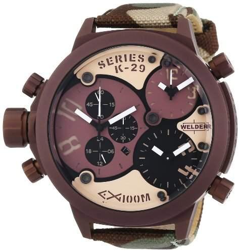 Welder Unisex-Armbanduhr Analog Quarz Leder K29 8005