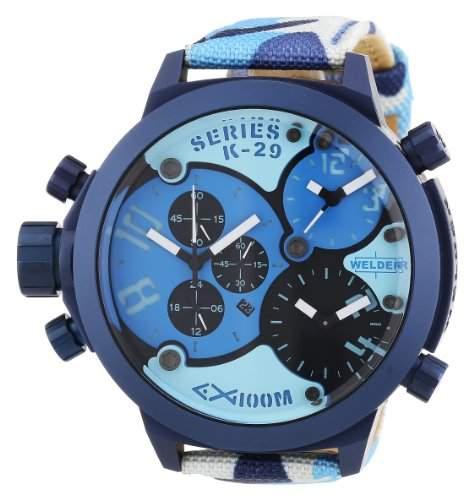 Welder Unisex-Armbanduhr Chronograph Quarz Kautschuk K29 8006