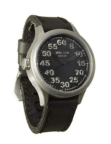 MenWelder Armbanduhr PH4900-C-PH01T Analog Leder schwarz K20-504
