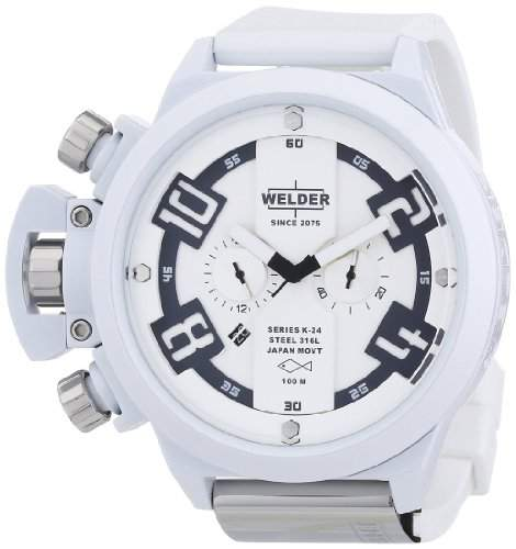 Welder Mens K24 Series White Chronograph Watch - K 24 3311