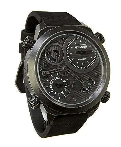 MenWelder Armbanduhr PH4900-C-PH01T Analog Leder schwarz K50-401