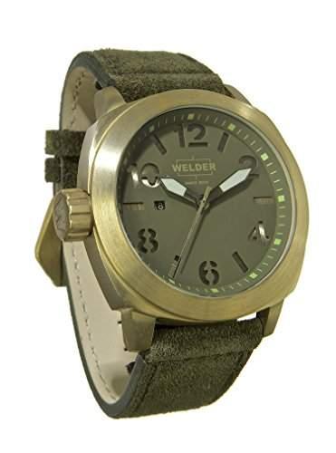 MenWelder Armbanduhr Analog Quarz Leder K 51-9101 gruen