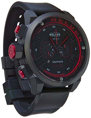 MenWelder Armbanduhr 1615 9177 Chronograph Black Rubber Strap 31 2602 K