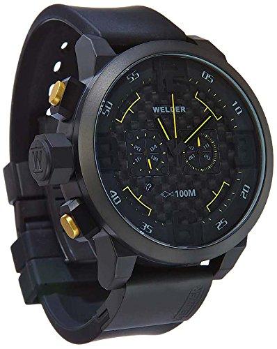 MenWelder Armbanduhr 1615 9177 Chronograph Black Rubber Strap K31 10000