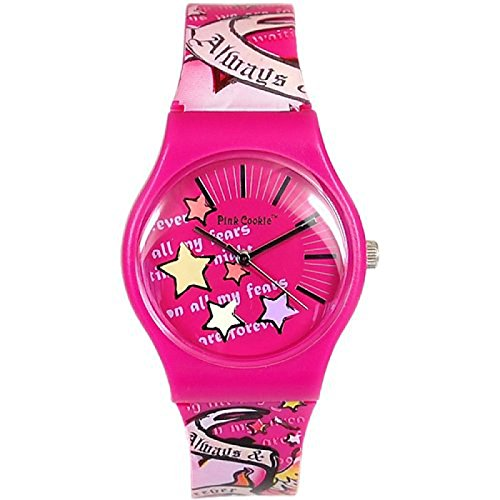 Pink Cookie rosa Freunde Armbanduhr PCL 0019