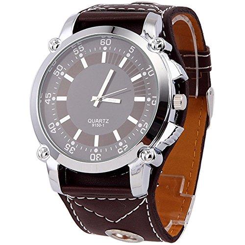 Klassische speziellen modernen Frauen kleiden Uhren Super gro e Zifferblatt Quarz Armbanduhr braun