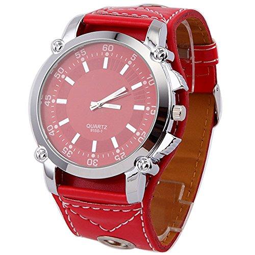 Klassische speziellen modernen Frauen kleiden Uhren Super gro e Zifferblatt Quarz Armbanduhr rot