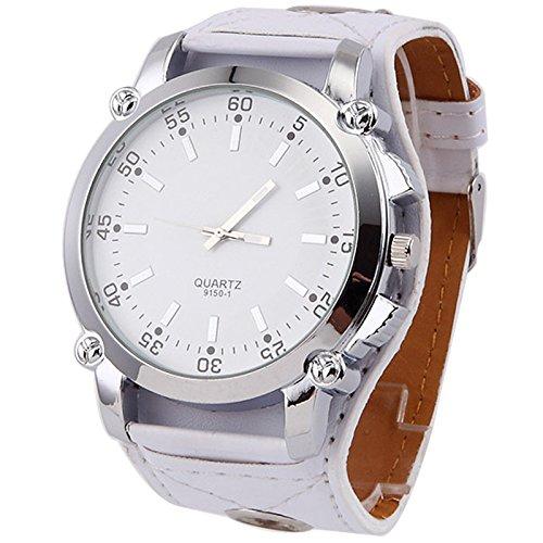 Klassische speziellen modernen Frauen kleiden Uhren Super gro e Zifferblatt Quarz Armbanduhr wei