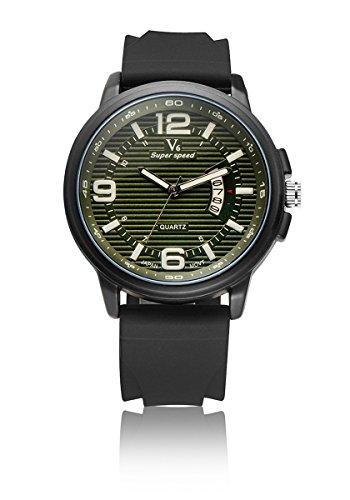 V6 neue Ankunfts Mode Uhr Mode Quarz Armbanduhr Super Soft Silikon Band Gr n