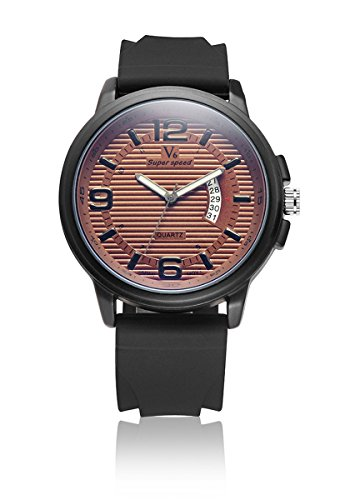 V6 neue Ankunfts Mode Uhr Mode Super Soft Silikon Band Orange