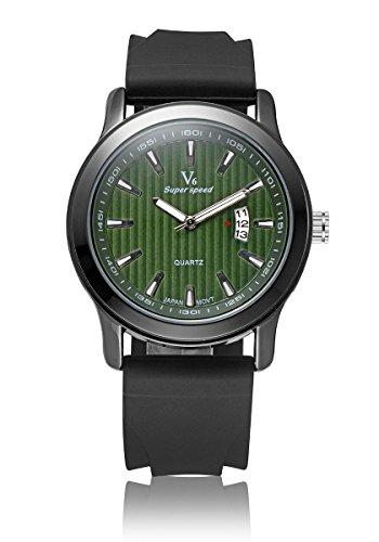 V6 neue Ankunfts Luxus Uhr Mode Quarz Armbanduhr Silikon Band Gr n