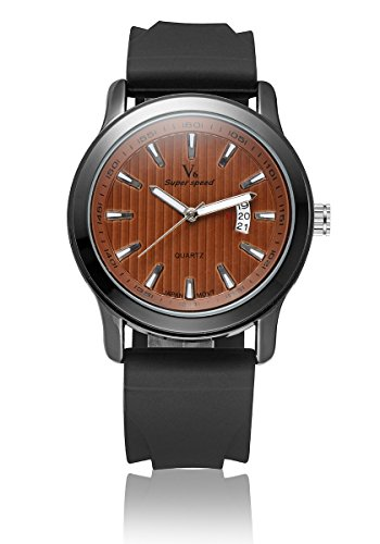 V6 neue Ankunfts Luxus Uhr Mode Quarz Armbanduhr Silikon Band orange
