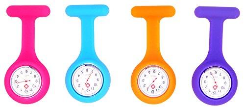 Silikon Krankenschwester Brosche Fob Tunika Anhaenger Quarz Uhr Suessigkeit