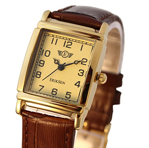 Damen Schmuck Armbanduhr rechteckig Lederband