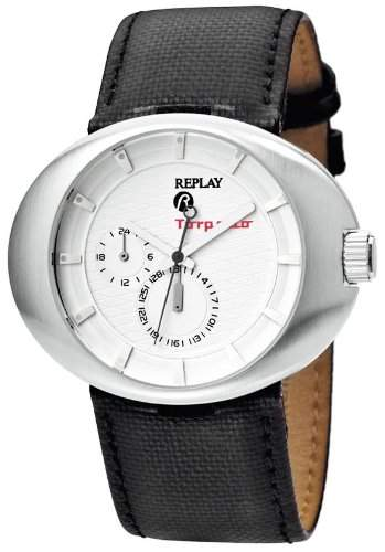Replay Herren-Armbanduhr XL Analog Leder RX5201AH