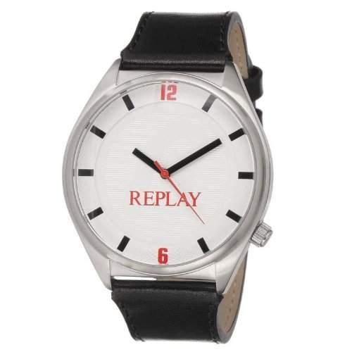 Replay Herren-Armbanduhr Analog Quarz Leder RX5303AF