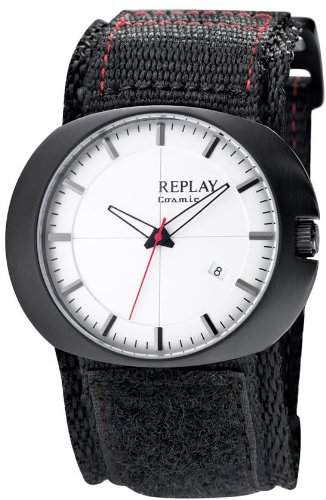 Replay Herren-Armbanduhr XL Analog Leder RX7203AH