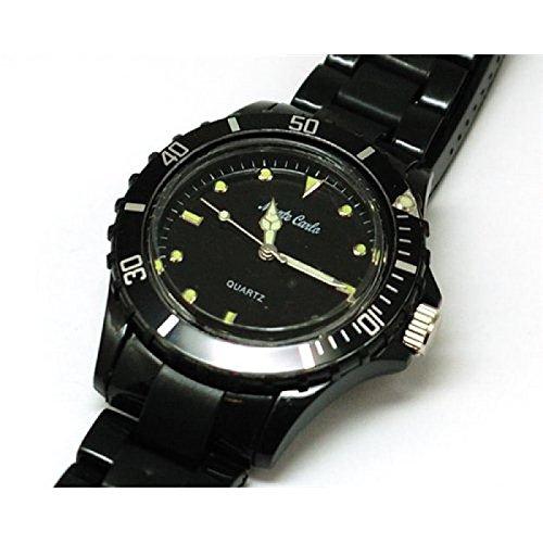 MONTE CARLO 2914 Quartz Damenuhr mit schwarzem Armband aus Kunststoff
