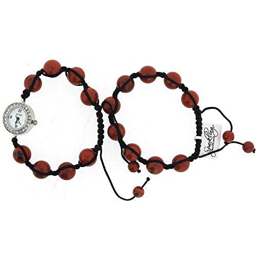 Monte Carlo Geschenkset achataehnliches Perlenarmband und Uhr F48472 01