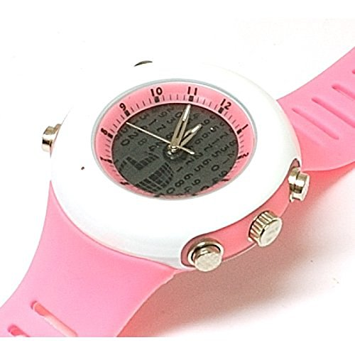 Monte Carlo M6050 Pink hypnotisierende Digitale Silikon Herrenuhr in Pink