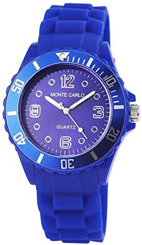 Monte Carlo Silikon Armbanduhr blau