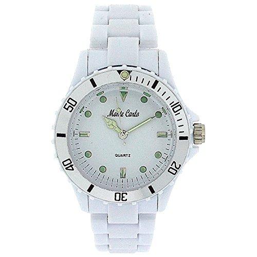 MONTE CARLO 2914 Damenuhr mit weissem Armband aus Kunststoff
