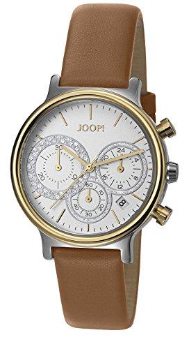 Joop Damen Armbanduhr Golden Leather Chronograph Quarz Leder JP101502011