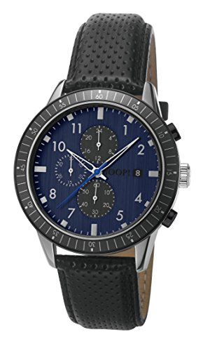 Joop Herren Armbanduhr Dark Night Chronograph Quarz Leder JP101881003
