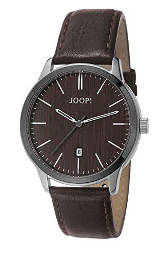 Joop Herren Armbanduhr Dark Wood Analog Quarz Leder JP101821003