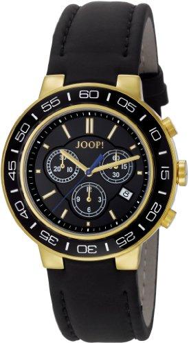 Joop Herren Armbanduhr XL Insight Swiss Made Chronograph Quarz Leder JP100911S05