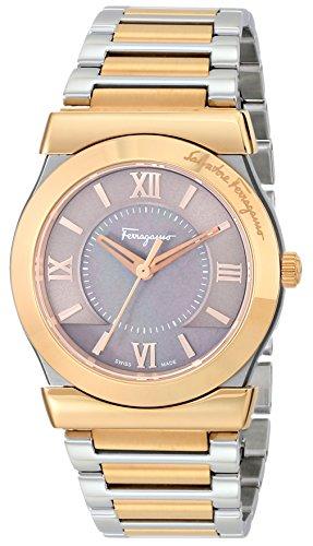 Salvatore Ferragamo Vega FI102 0014 Edelstahl Quarz rosegold silber