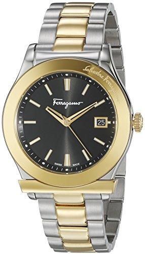 Salvatore Ferragamo Herren ff3910015 FERRAGAMO 1898 Analog Display Quarz Zweifarbige Armbanduhr