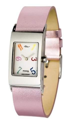 Moog Damen-Armbanduhr Analog Leder rosa M41621-006