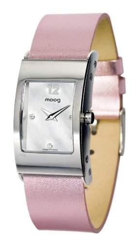 Moog Damen-Armbanduhr Analog Leder rosa M41661-002