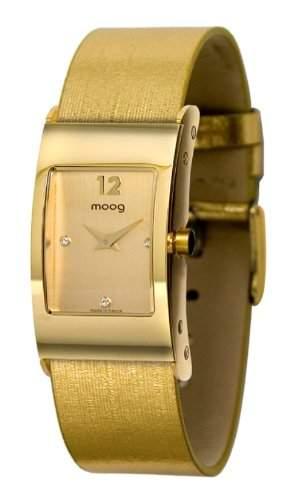 Moog Damen-Armbanduhr Analog Textil gold M41661-003