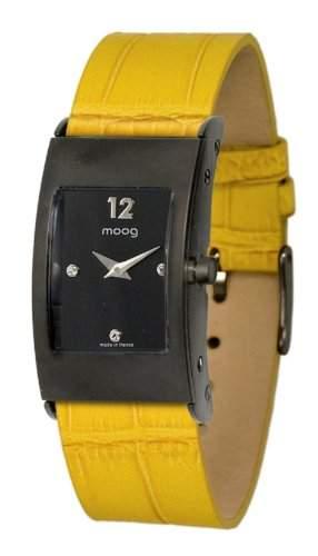 Moog Damen-Armbanduhr Analog Leder gelb M41661-006